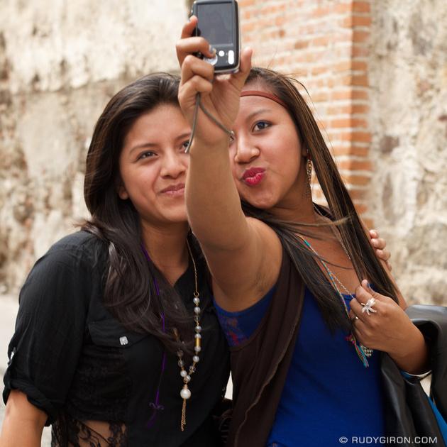 Rudy Giron: Instagrams &emdash; Portrait of selfie at Calle del Arco, Antigua Guatemala
