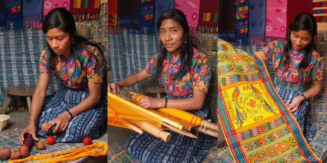 Rudy Giron: Antigua Guatemala &emdash; Antigua Artisan Triptych: The Mayan Weaver