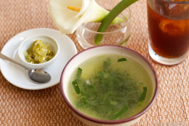 Rudy Giron: Antigua Guatemala &emdash; Bok Choy soup from Origami