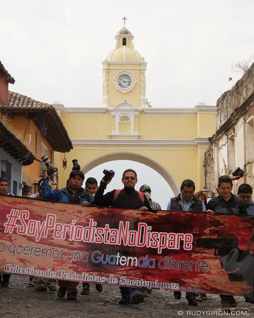 Rudy Giron: Antigua Guatemala &emdash; Soy periodista, no dispare, Antigua Guatemala