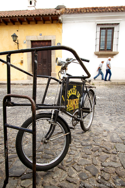 Rudy Giron: Antigua Guatemala &emdash; Vintage Bicycle As Business Sign © Rudy Giron