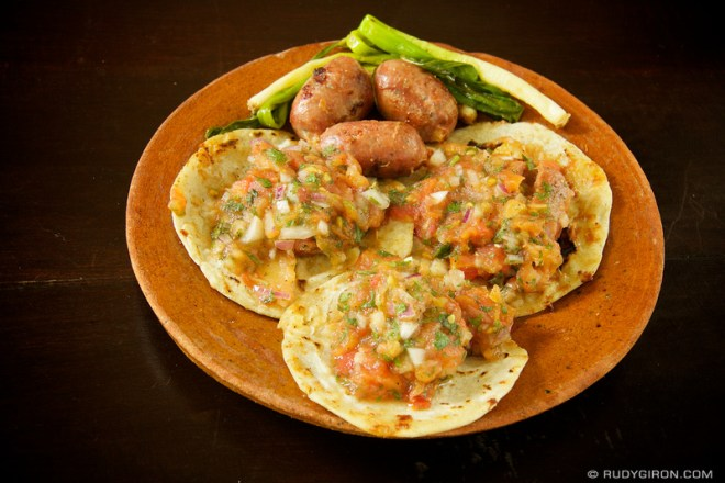Rudy Giron: Antigua Guatemala &emdash;© Guatemalan Food: Tortillas con longaniza by Rudy Giron