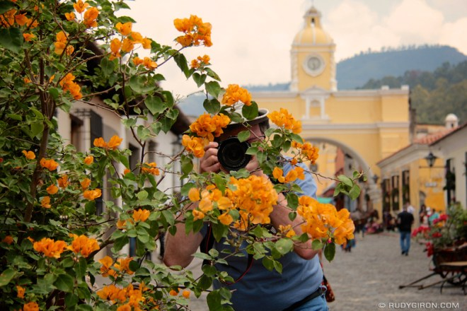 Rudy Giron: Antigua Guatemala &emdash; Framed photographer during a recent Antigua Photo Walks