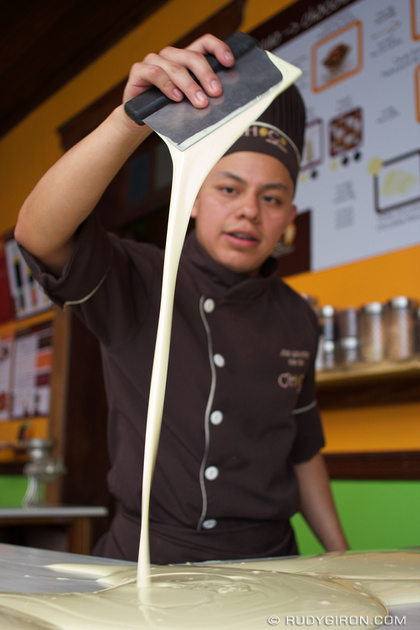 Rudy Giron: Antigua Guatemala &emdash; Preparation of white chocolate