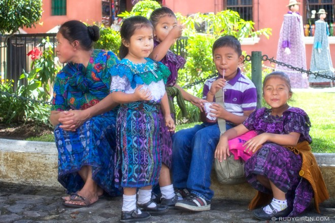 Rudy Giron: Antigua Guatemala &emdash; Mayan Family Taking A Break in Shade