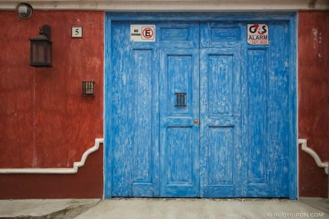 Rudy Giron: Antigua Guatemala &emdash; Blue Door and Red Wall