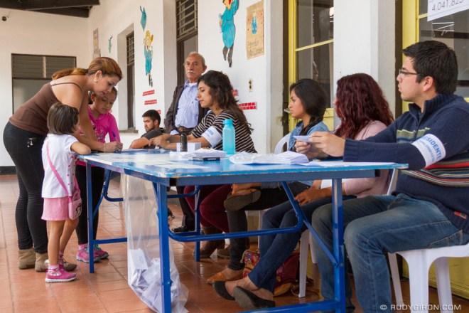 Rudy Giron: Antigua Guatemala &emdash; Mother at voting center in Antigua Guatemala