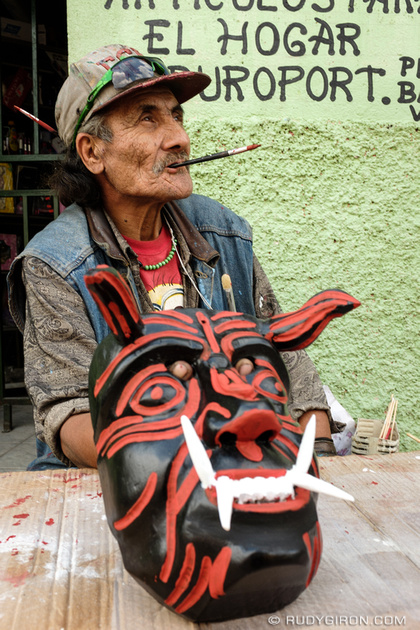 Rudy Giron: Antigua Guatemala &emdash; Putting the final touches on the devil-2