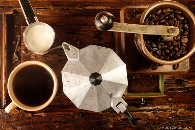 Rudy Giron: Antigua Guatemala &emdash; Coffee Lover's Still Life 2