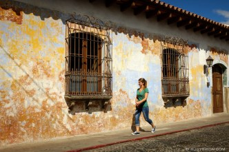 Textured Walls of Antigua Guatemala by Rudy Giron