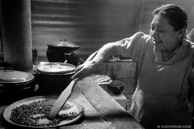Rudy Giron: Antigua Guatemala &emdash; Francisca Is Roasting Coffee the Traditional Way in San Miguel Escobar, Guatemala