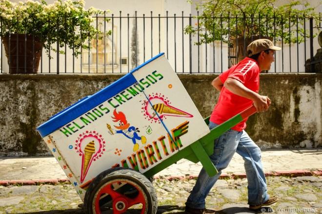 Rudy Giron: Antigua Guatemala &emdash; Traditional Ice Creat Cart from Antigua Guatemala