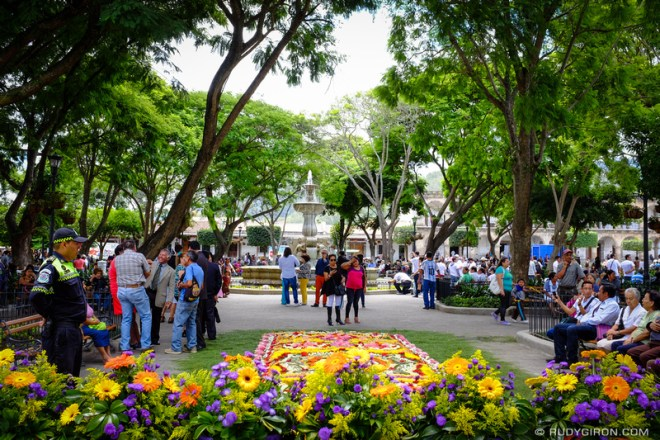 Rudy Giron: Antigua Guatemala &emdash; Inauguration of Parque Central Garden Area Facelift