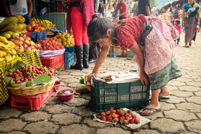 Rudy Giron: Antigua Guatemala &emdash; Little Maya Girl and Strawberries