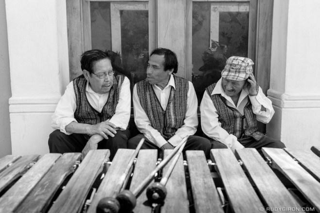 Rudy Giron: Antigua Guatemala &emdash; Street Photography — Marimba Musicians Taking a Break-2