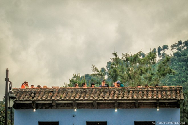 Rudy Giron: Antigua Guatemala &emdash; Sunset Watching from a Terrace in Antigua Guatemala