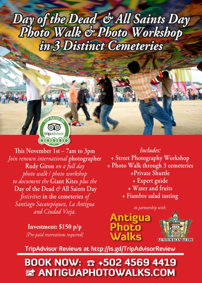 Guatemala's Day of the Dead Photography Workshop and Photo Walk with Photographer Rudy Giron