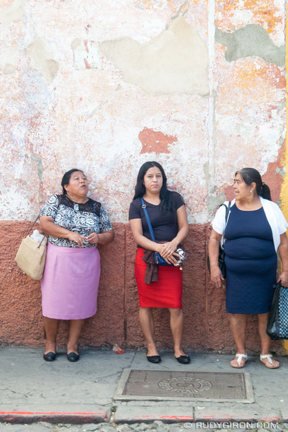 Rudy Giron: Antigua Guatemala &emdash; Vistas from Antigua Guatemala streets — 3 Women