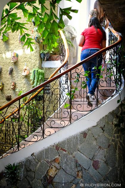 Rudy Giron: Antigua Guatemala &emdash; Stairway and Masks