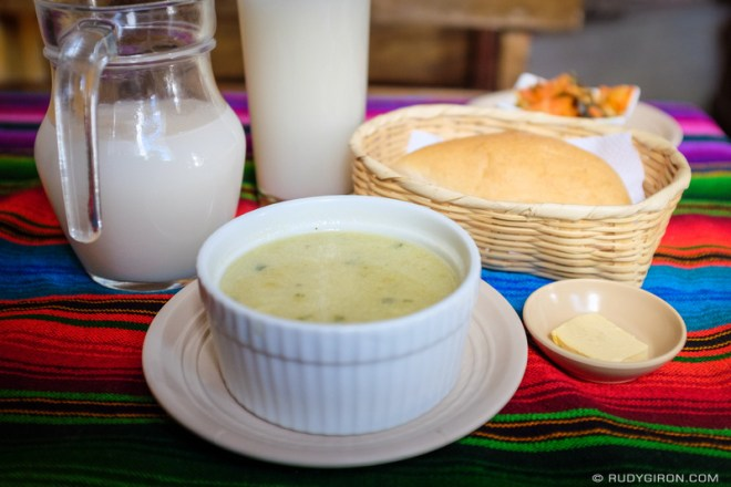 Rudy Giron: Antigua Guatemala &emdash; Guatemalan Daily Menu — Sopa de güicoyitos