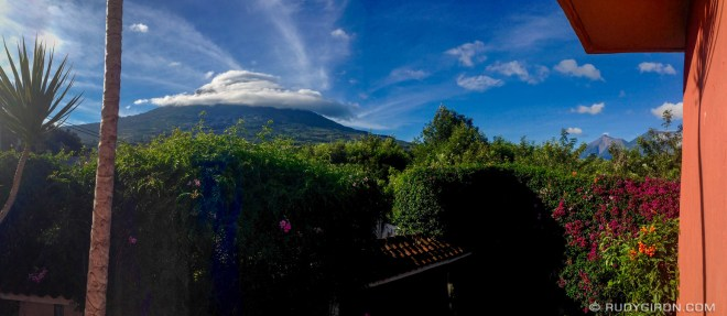 Rudy Giron: Antigua Guatemala &emdash; Panoramic view of volcanoes surrounding Antigua Guatemala