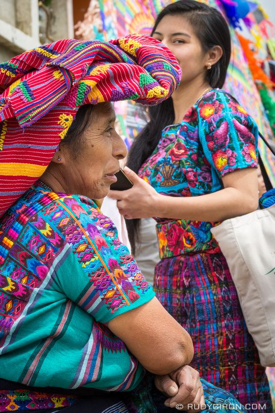 Rudy Giron: Day of the Dead 2016 Photo Walks &emdash; Two Colorful Generations of Maya Women at Day of the Dead in Santiago Sacatepequez Generations of Maya Women at Day of the Dead in Santiago Sacatepequez