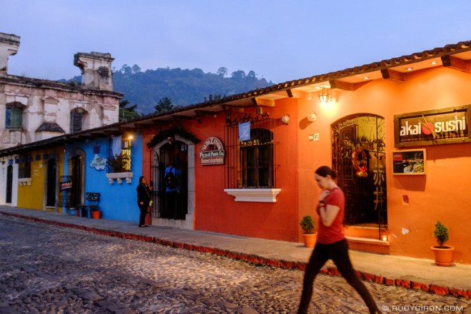Rudy Giron: Antigua Guatemala &emdash; Twilight in Antigua Guatemala