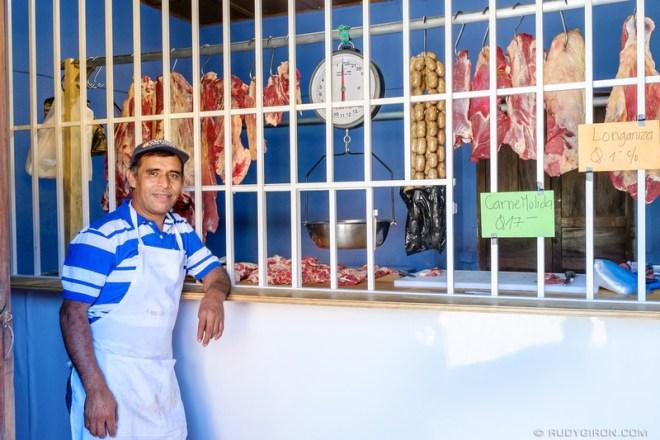 Rudy Giron: Antigua Guatemala &emdash; The Butcher and His Shop