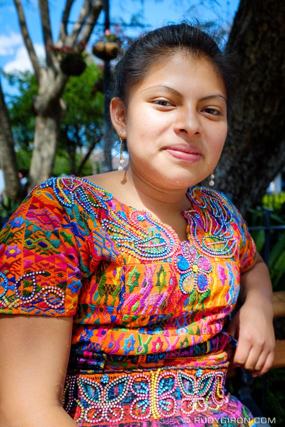 Rudy Giron: Antigua Guatemala &emdash; Maya Portraits — Young Woman from Santa María de Jesús