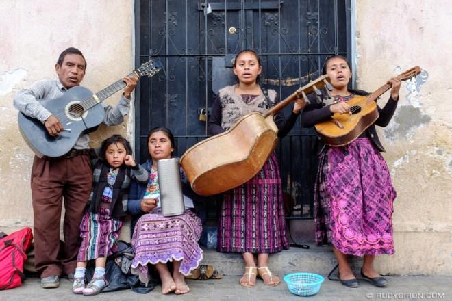 Rudy Giron: Antigua Guatemala &emdash; Mayan Family Playing Religious Music