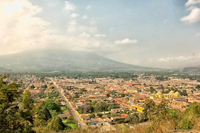 Rudy Giron: Antigua Guatemala &emdash; Panoramic Vista of Antigua Guatemala from Cerro de la Candelaria