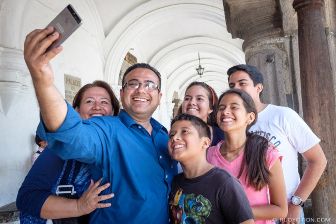 Rudy Giron: Antigua Guatemala &emdash; The family selfie in Antigua Guatemala