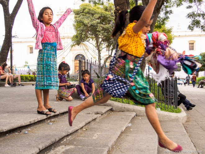 Rudy Giron: Antigua Guatemala &emdash; Jumpping around the Parque Central