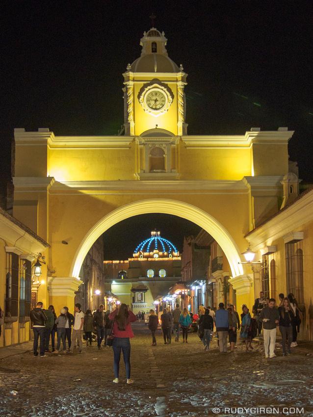 Rudy Giron: Antigua Guatemala &emdash; Arco de Santa Catalina at Night