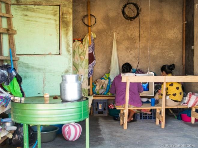Rudy Giron: Antigua Guatemala &emdash; Television break after a making tortillas