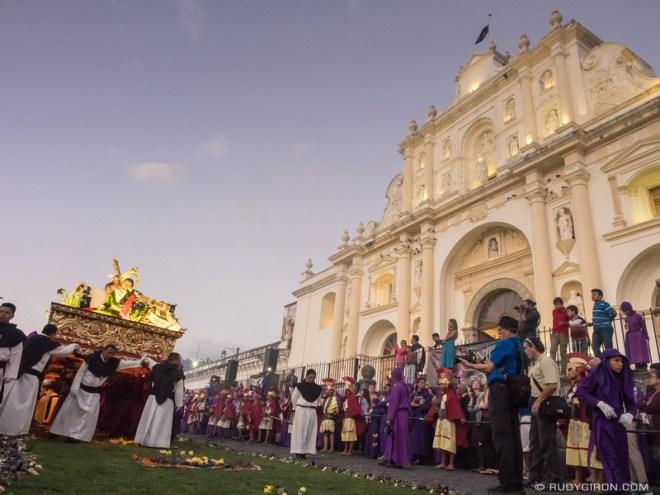 Rudy Giron: Antigua Guatemala &emdash; First Lenten Procession from Santa Catalina Bobadilla in front of the Cathedral
