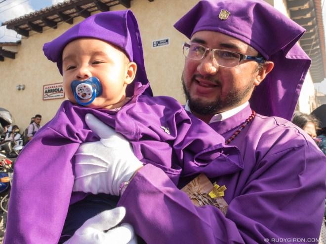 Rudy Giron: Antigua Guatemala &emdash; Cucurucho Father and Son in Antigua Guatemala