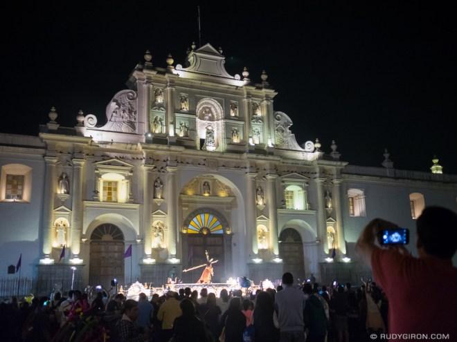 Rudy Giron: Antigua Guatemala &emdash; Procession in front of the Cathedral, Antigua Guatemala