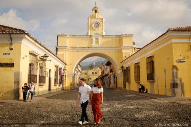Rudy Giron: Antigua Guatemala &emdash; Antigua Street Shoots - Engagement Session at Calle del Arco by Rudy Giron