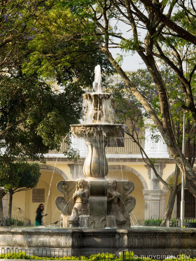 Rudy Giron: Antigua Guatemala &emdash; Fuente de las Sirenas, Parque Central, Antigua Guatemala