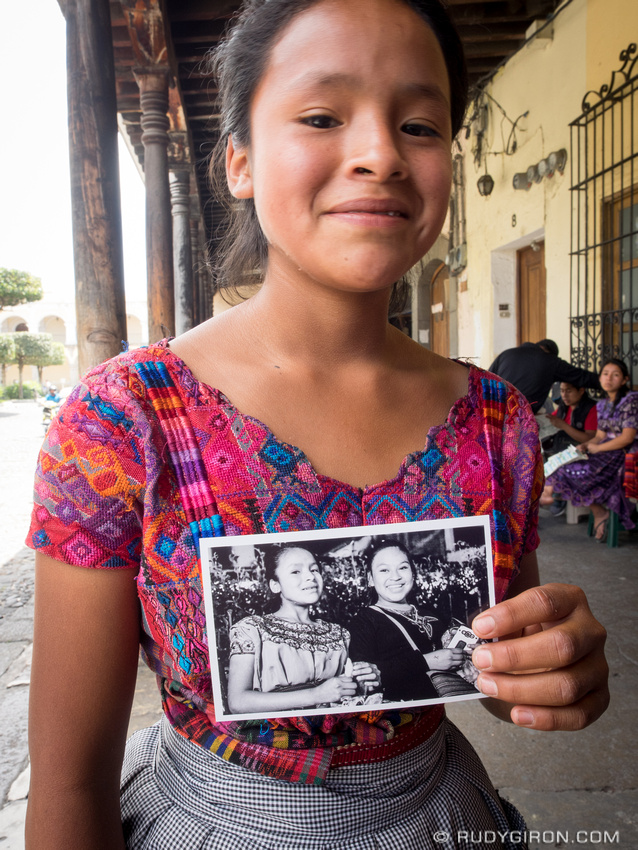 Rudy Giron: Antigua Guatemala &emdash; Antigua Makes Me Happy - Portraits of Mayan Girl with portrait