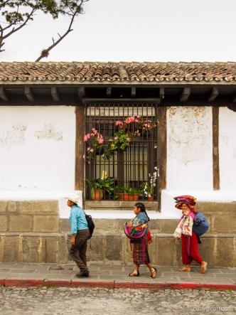 Windows in Antigua Guatemala by Rudy Giron