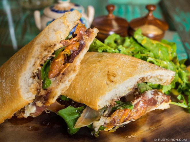 Foodie Alert: Proscuitto and Manchego cheese Sandwich by Rudy Giron