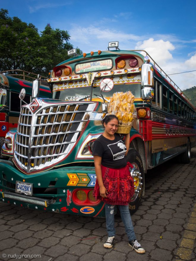 Antigua Guatemala's Bus Terminal is so vibrant. Photo by Rudy Giron