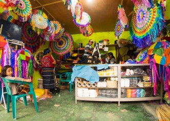 A Window Into a Giant Kite Shop in Guatemala by Rudy Giron