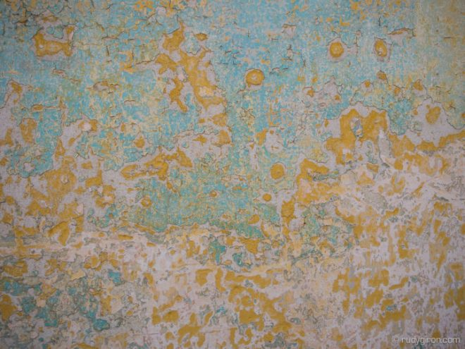 Textures of Antigua Guatemala — Light blue and yellow BY RUDY GIRON