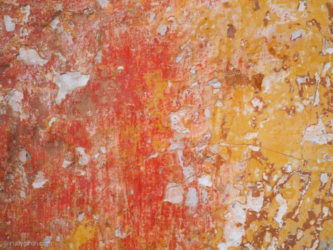 Textures of Antigua Guatemala — Red and Yellow BY RUDY GIRON
