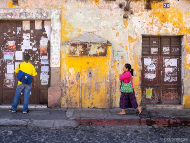 Quotidian Vistas from Antigua Guatemala — Announcements Wall BY RUDY GIRON