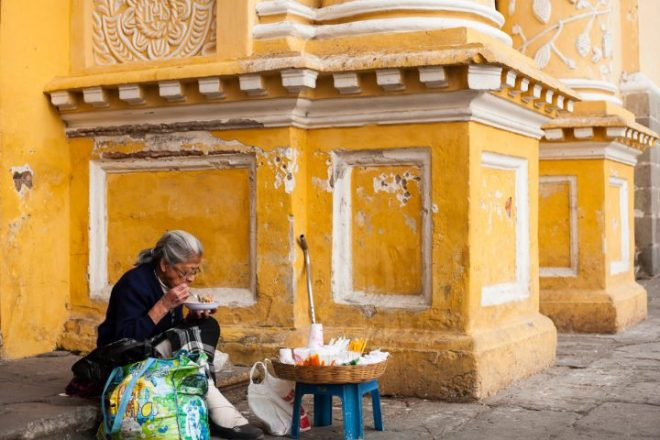 Quotidian Vistas from Antigua Guatemala — Ambulant Candle Booth BY RUDY GIRON