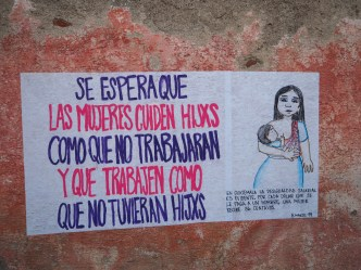 Graffiti for International Women's Day in Antigua Guatemala BY RUDY GIRON